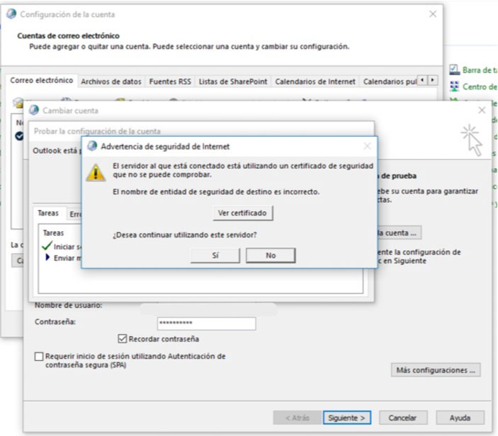 Outlook certificado